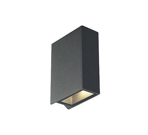SLV 232475 QUAD 2 wall lamp Square anthracite LED 2 x3W Warm White