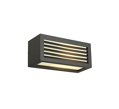 SLV 232495 BOX-L E27 wall lamp Square anthracite E27