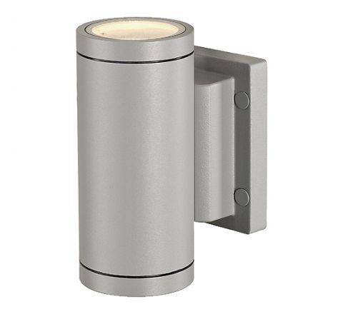 SLV 233114 NEW MYRA UPandDOWN wall luminaire Silver Grey 2 x GU10