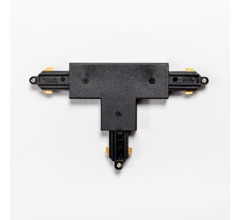 MLS 710028 T-Connector Earth Inside Left in Black for Single Circuit Track