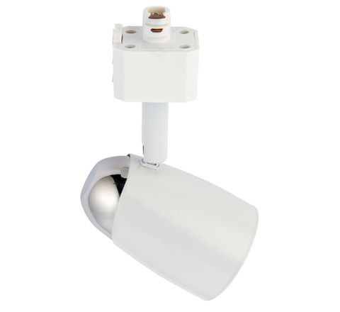 Track Spot Chrome Dome White Dimmable requires a GU10 LED for FLT track only