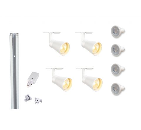 MLS 800113 Avo x 4 (2M Track Kit) Dimmable White