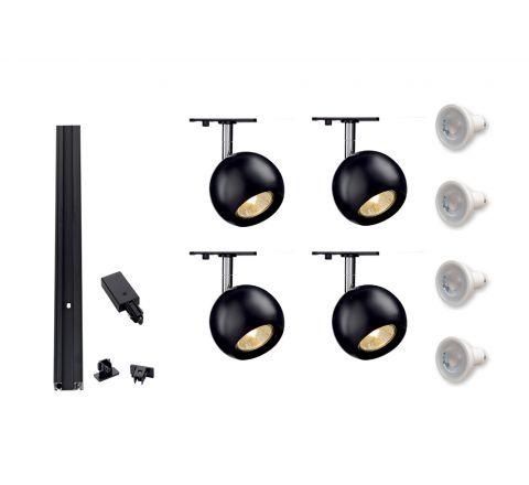 MLS 800114 Single Eye 1 x 4 ( 2M Track Kit) Dimmable Black
