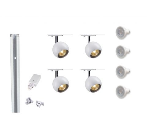 MLS 800116 Eye 1 x 4 Track (2M Track Kit) Dimmable White