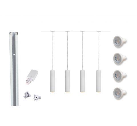 MLS 800119 Enola White x 4 (2m Track Kit) Dimmable White