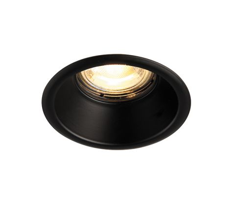 Fire Rated GU10 IP65 Anti Glare Black Downlight, dimmable, requires GU10 lamp