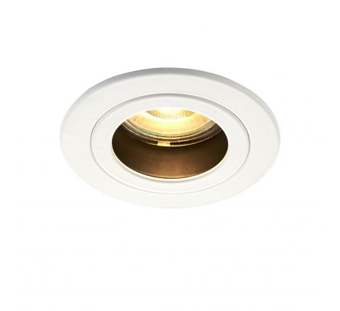 Baffled Anti Glare Downlight White requires GU10 LED