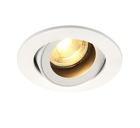 Baffled Anti Glare Adjustable Downlight White requires GU10 LED