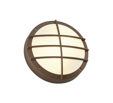 SLV 229087 BULAN GRID wall lamp rust-coloured E27