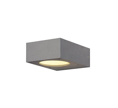 SLV 232284 QUADRASYL wall lamp WL 15 Square Silver Grey GX53
