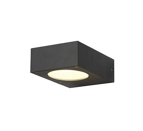 SLV 232285 QUADRASYL wall lamp WL 15 Square anthracite GX53