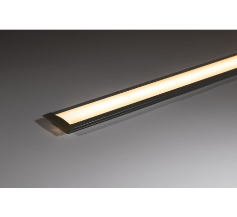 Aluminium Profile 25mm x 7mm recessed with opal diffuser 1m (supplied with end caps)