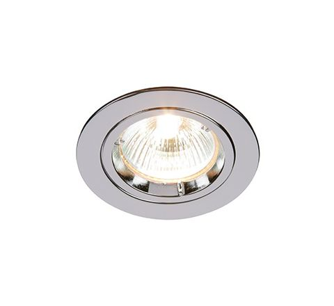 MLS DL492N Twist Lock Fixed Downlight Polished Chrome, dimmable, requires GU10 lamp