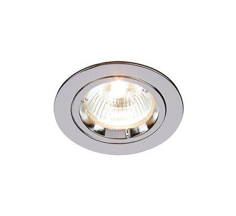 MLS DL492N Twist Lock GU10 Fixed Downlight Polished Chrome LED or halogen options