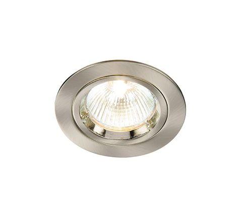 MLS DL495N Twist Lock Fixed Downlight Alu Brushed, dimmable, requires GU10 lamp