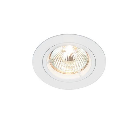 MLS DL491N Twist Lock Fixed Downlight, Requires GU10 LED, White