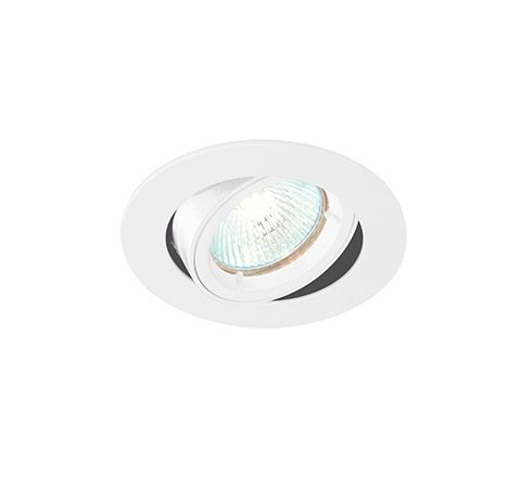 MLS G491N Twist Lock Adjustable Downlight White, Requires GU10 LED