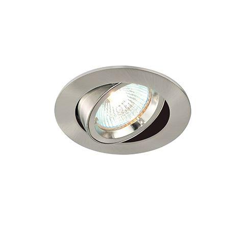 MLS G495N Twist Lock Adjustable Downlight Alu Brushed, dimmable, requires GU10 lamp