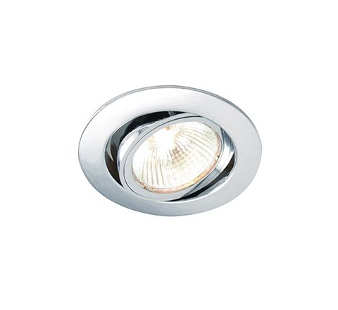 MLS G492N Twist Lock Adjustable Downlight Polished Chrome, dimmable, requires GU10 lamp