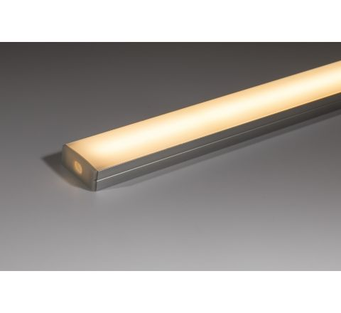 17mm x 7mm Aluminium profile with opal diffuser 1m (supplied with fixing clips and end caps)
