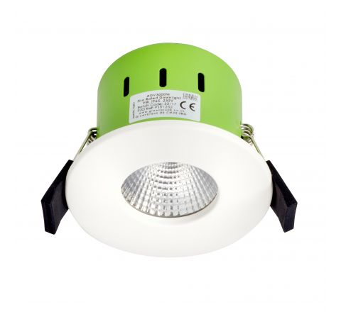 Greenbrook ADV4000W IP65 LED Dimmable Fire Rated White Fixed Cool White