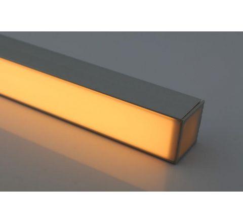 MLS 800037 Aluminium Profile 2m surface mounted triple profile deep finish opaque Aluminium