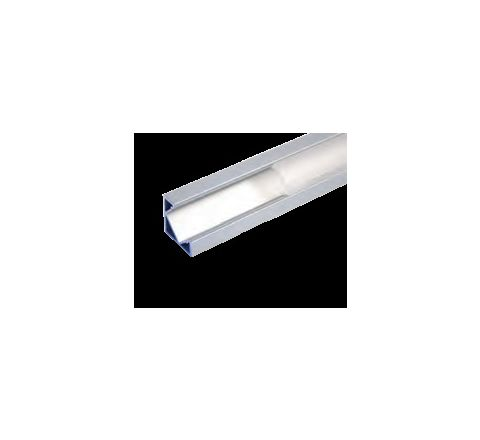 MLS 800040 Aluminium Profile 2m surface mounted corner Single profile deep finish opaque