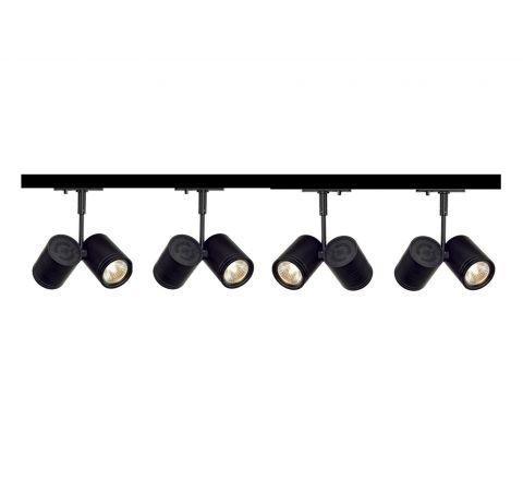 MLS 800093 Bima 2 x 4 (2M Track Kit) Dimmable Black