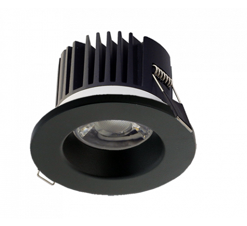 3 in 1 LED Fire Rated Downlight Black Bezel 3000K/4000K/5000K Switchable IP65 Dimmable