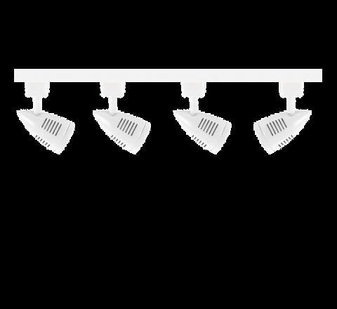 MLS800174 Bullet x 4 Track Lighting Kit White Dimmable (2m Track Kit)