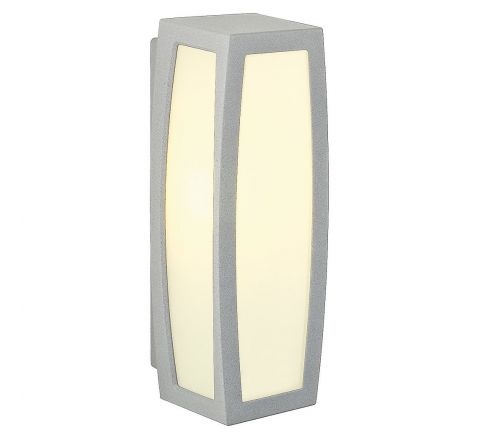 SLV 230084 MERIDIAN BOX Silver Grey E27 20W with motion detector