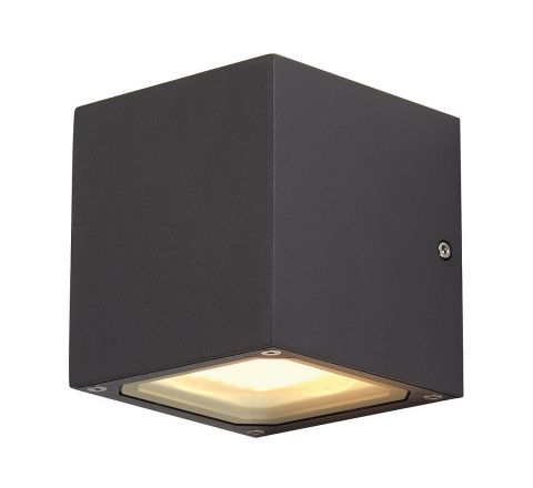 SLV 232535 SITRA CUBE wall lamp cube formed anthracite GX53