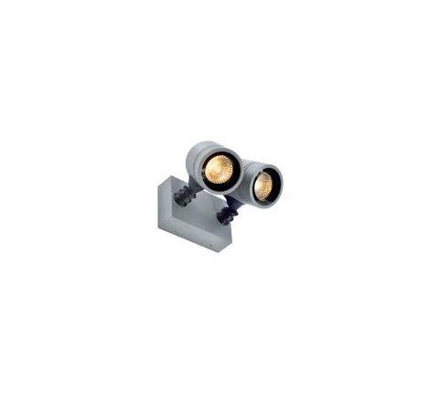 SLV 233094 twin spot Silver Grey 2 x GU10 2 x 50W IP55