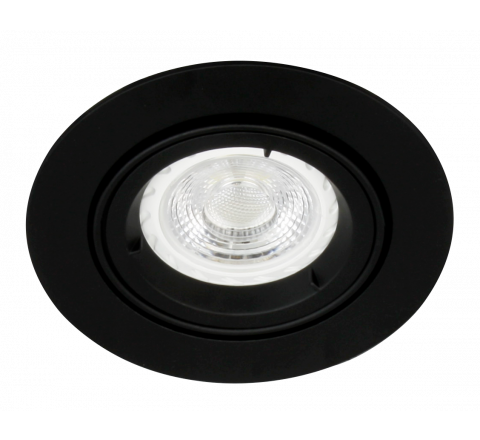 MLS G490N Twist Lock Adjustable Downlight Black, dimmable, requires GU10 lamps