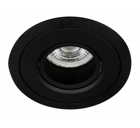 MLS MT500 Recessed Downlight Black, Baffle to reduce glare, dimmable, requires GU10 lamp