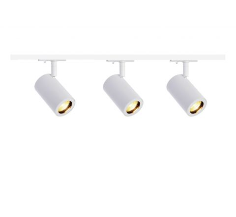 MLS 800151 Enola x 3 Track Lighting Kit White (1m Track Kit) Dimmable