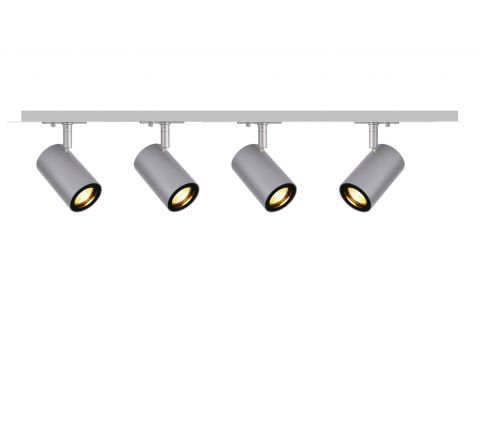 MLS 800156 Enola x 4 Track Lighting Kit Silver Grey (2m Track Kit) Dimmable