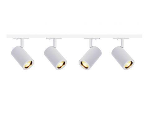MLS 800154 Enola x 4 Track Lighting Kit White (2m Track Kit) Dimmable