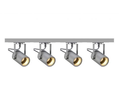 MLS 800062 Eurospot x 4 (2M Track Kit) Dimmable Silver Grey
