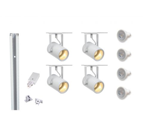 MLS 800060 Eurospot x 4 (2M Track Kit) Dimmable White