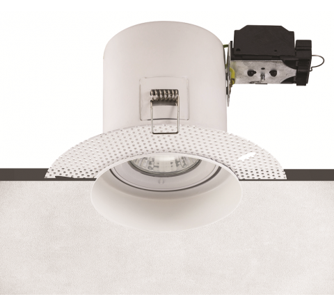 Fire Rated Plaster-in Adjustable Downlight requires GU10 LED Dimmable