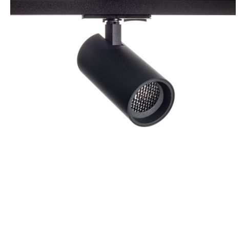 Tube GU10 Track Spot Black with Black Bezel & Honeycomb for Multi Circuit Track Dimmable requires GU10 LED