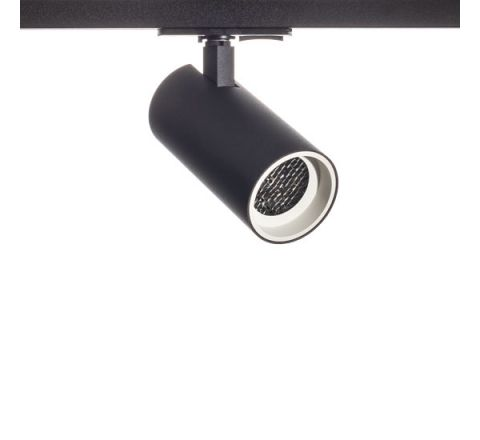 Tube GU10 Track Spot Black with White Bezel & Honeycomb for Multi Circuit Track Dimmable requires GU10 LED