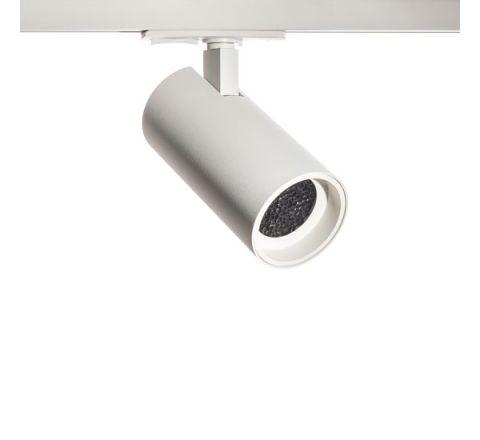 Tube GU10 Track Spot White with White Bezel & Honeycomb for Single Circuit Track