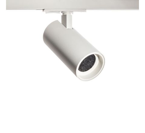 Tube GU10 Track Spot White with White Bezel & Honeycomb for Multi Circuit Track Dimmable requires GU10 LED