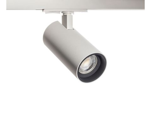 Tube GU10 Track Spot White with Black Bezel for Multi Circuit Track Dimmable requires GU10 LED