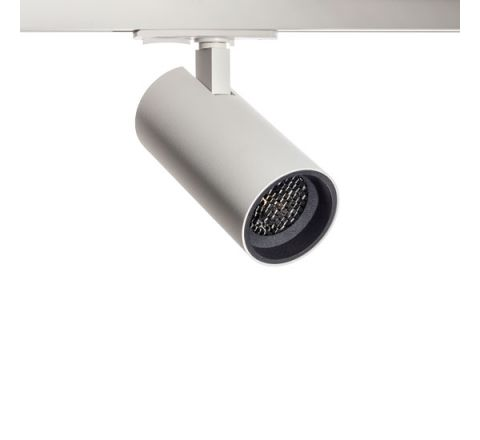 Tube GU10 Track Spot White with Black Bezel & Honeycomb for Multi Circuit Track Dimmable requires GU10 LED