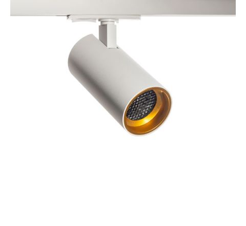 Tube GU10 Track Spot White with Gold Bezel & Honeycomb for Multi Circuit Track Dimmable requires GU10 LED