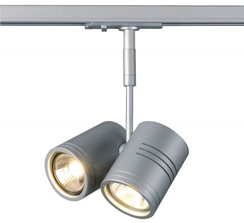 Bima II Spot Light Silver Grey Dimmable, requires 2 x GU10 LED