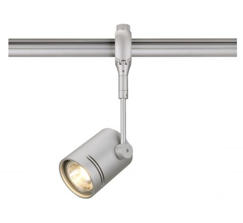 SLV 184452 Bima I lamp head for Easytec II track Silver Grey, Dimmable, Requires GU10 LED